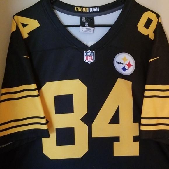 6e3d3e2c4a2 Steelers Antonio Brown Nike Color Rush Jersey. M_5cb22771689ebc1a37a260b9